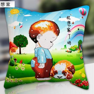 卡通动漫儿童刺绣最5D十字绣汽车抱枕3d枕套卧室沙发靠垫套件-十字图片