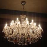 客厅欧式水晶吊灯现代简约大气餐厅卧室饭厅房间LED吸顶美式灯具