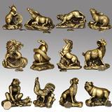 精品开光纯铜十二生肖摆件鼠牛虎兔龙蛇马羊猴鸡狗猪家居工艺礼品