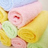 20条包邮/竹纤维宝宝婴儿童小毛巾童巾25*25洗碗方巾厂家批发纯棉