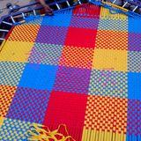 厂家直销*定制蹦床网面*幼儿园跳跳床网布*彩色网面*三色编织网面