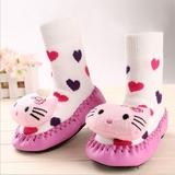 秋冬季宝宝地板袜防滑早教婴儿鞋袜公仔袜点胶学步袜厚底儿童袜子