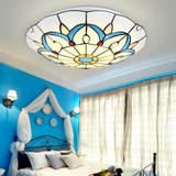 地中海贝壳吸顶灯客厅灯欧式田园创意餐厅蒂凡尼卧室书房LED灯具