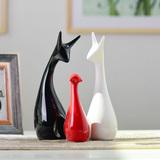 家居现代陶瓷摆件工艺品动物客厅结婚礼物装饰品包邮简约饰品天鹅