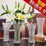 透明加厚玻璃花瓶客厅水培器富贵竹家居插花花器创意欧式简约摆件