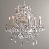 新古典美式水晶吊灯欧式宫廷铁艺复古客厅儿童房美式公主房卧室灯