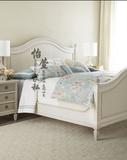 美式乡村实木床白色 欧式田园公主床实木双人床 卧室家具组合定制