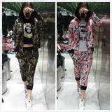 米米香港代购 Aape 16春夏 女装猿人标迷彩拼接连帽卫衣外套 3227