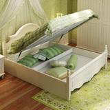 韩式田园床实木床卧室家具白色公主床1.5米1.8m欧式床双人床组合