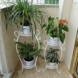 铁艺花架落地两层花盆架地中海盆景架阳台植物架客厅摆设小花架