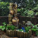 大型欧式鱼池假山流水喷泉水景田园林工艺品加湿器阳台摆件装饰品