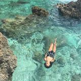 独家性感黑白三角大小胸聚拢连体比基尼海边显瘦遮肚聚拢游泳装女