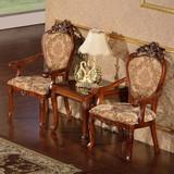 阳台小桌椅欧式洽谈接待桌椅组合休闲茶几三件套休闲椅子布艺卧室