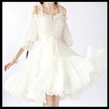 卡同款复古欧式宫廷风洛丽塔超仙甜美公主吊带露肩连衣裙优质版