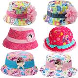 包邮专柜正品迪士尼盆帽芭比渔夫帽米奇女童盆帽宝宝春款纯棉帽子