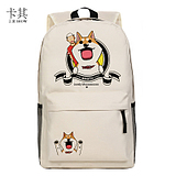 包邮!家有穆珂周边 动漫书包 MUKO 可爱柴犬 中学生背包 双肩包