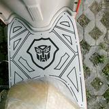 三代小龟王电动车配件 雅迪豪韵 改装铝塑防滑脚垫 变形金刚脚踏
