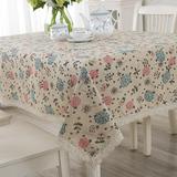 桌布 布艺棉麻多用盖布 亚麻桌布田园茶几桌布餐桌布长方形台布