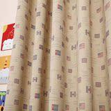 艾美利美式乡村风格国旗窗帘个性窗帘前卫客厅卧室书房儿童房定做