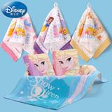 迪士尼Disney纯棉纱布童巾6条装 宝宝婴儿童小毛巾 柔软吸水 卡通