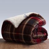紫莓三层羊羔绒毛毯加厚双层冬被子珊瑚绒毯冬季盖双人法兰绒毯子