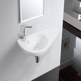简易挂墙式盆陶瓷洗手盆小户型洗脸盆洗面盆卫生间阳台挂盆一体盆