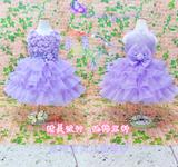 儿童婚纱礼服公主裙女童伴娘礼服纱裙演出表演服装蓬蓬裙花童裙