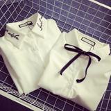 韩范打底衫女 学院风上衣修身蝴蝶结衬衣韩版白衬衫 女 长袖 学生