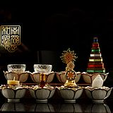 佛教用品密宗法器八供全套 供碗 供水杯 斋碗 佛教用品/套