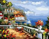 diy数字油画包邮特价 手绘情侣结婚客厅大幅装饰画40*50自然风光