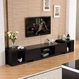 热卖现代简约伸缩组合电视柜 钢化玻璃 顾家小户型1183f客厅地柜