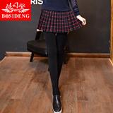 波司登秋冬款假两件打底裤裙子女士加绒加厚外穿显瘦保暖百褶裙裤