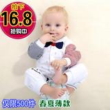 婴儿连体衣春秋纯棉长袖新生儿衣服0-3-6个月宝宝哈衣睡衣夏薄款