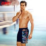 洲克泳裤男士五分平角 加肥加大码 特大码泳裤宽松沙滩大胖子泳裤