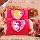 包邮最新款5D十字绣抱枕绒布精准印花结婚单人枕头套一对可爱猴