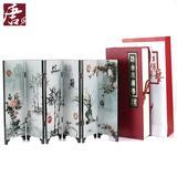 漆器六扇屏风摆件 出国礼品中国特色礼品送老外 中国风礼品工艺品