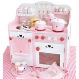 草莓超大豪华厨房玩具/灶台 木制过家家儿童玩具