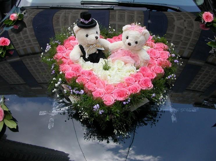 车头花布置.婚车全套 手捧花 心型婚车鲜花商品图片价格图片