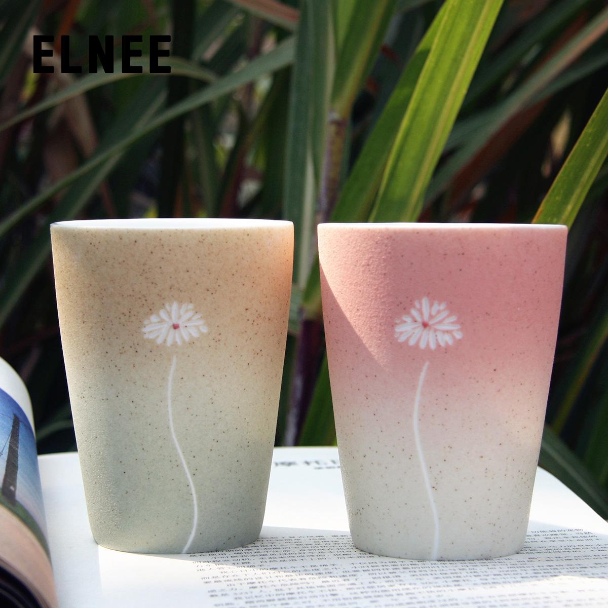 手绘雏菊创意陶瓷杯子牛奶马克水杯情侣实用生日定制礼物圣诞礼品商品