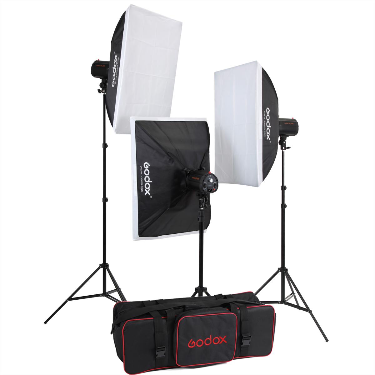 神牛250w闪光灯摄影灯摄影器材3摄影棚服装拍照柔光箱套装商品图片