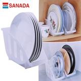 日本进口塑料碗架厨房橱柜置物架碗碟收纳架盘子架晾碗架沥水架子