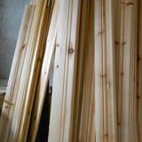 杉木踢脚线 免漆实木地角线 墙贴 木地板踢脚线 免漆杉木地脚线