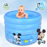 迪士尼 婴儿游泳池 家用新生儿充气游泳池加厚保温宝宝游泳桶大号