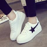 2016春季新款韩版运动风女鞋中跟厚底松糕鞋平底女单鞋休闲鞋板鞋