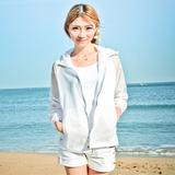 2016夏季超薄款防晒衣女装长袖防紫外线大码防晒服短款外套防晒衫