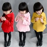 女童春装外套童装2016新款韩版儿童宝宝休闲长袖毛呢大衣冬装上衣