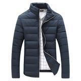 15冬季新款青年男士商务修身休闲棉衣加厚羽绒棉服短款立领男外套