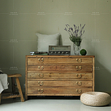 美式老榆木餐边柜全实木储藏柜欧式田园复古旧门板衣柜整理箱边柜