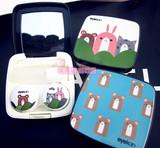 可爱卡通隐形眼镜盒子便携时尚护理伴侣萌兔双联盒凯达正品批发