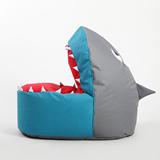 休闲小沙发豆袋儿童卡通布艺鲨鱼懒人沙发创意单人可爱榻榻米椅床